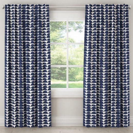 rakha textiles Brewton Geometric Single Curtain Panel