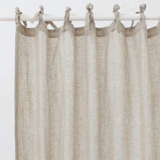 rakha textiles linen beige curtains